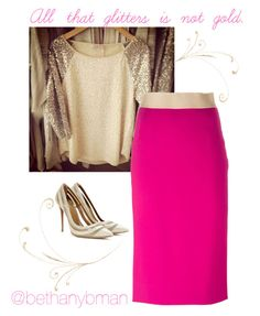 """""""Gold"""" by bethanybman ❤ liked on Polyvore featuring Dolce&Gabbana and Aquazzura"""