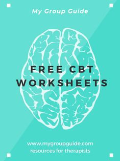 Cbt Therapy, Therapy Tools, Free Therapy, Cbt Worksheets, Therapy Worksheets, Cognitive Distortions, Cognitive Behavioral Therapy, Group Counseling, Counseling Activities