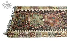 Pastel Turkish Kilim Runner Rug 4 x 16 ft by AnatoliaCollection