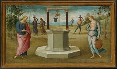 File:Perugino - Christ and the Woman of Samaria - - Art Institute of Chicago. Canterbury, Fine Art Prints, Canvas Prints, Art Institute Of Chicago, Canvas Paper, The Masterpiece, Old Master, Artist Names, Renaissance