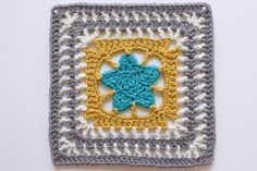 Lone Star crochet square - with link to tutorial