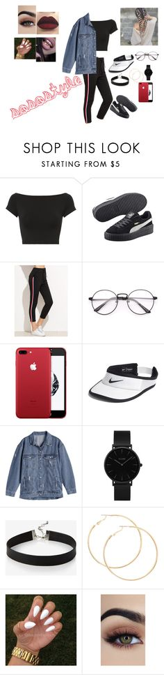 """""""BaddiesBack"""" by sosostyle-1 on Polyvore featuring mode, Helmut Lang, Puma, NIKE, CLUSE et Express"""