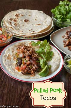 Prepare these tasty pulled pork tacos in either a Pressure Cooker or a Slow Cooker, these are flavorful and can be made spicy or not.
