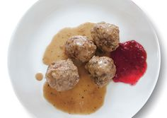 Swedish Meatballs---  Smörgås Chef, a restaurant in New York City's West Village, serves these meatballs with jammy lingonberries and whipped potatoes.