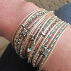 Champagne color wrap bracelet