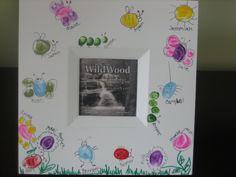 fingerprint frame, mother's day, teacher appreciation gift, class gift