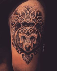 The Effective Pictures We Offer You About sister tattoo A quality picture can tell you many things. Bear Paw Tattoos, Grizzly Bear Tattoos, Dot Tattoos, Baby Tattoos, Head Tattoos, Body Art Tattoos, Tattoo Drawings, Sleeve Tattoos, Tattoos For Guys