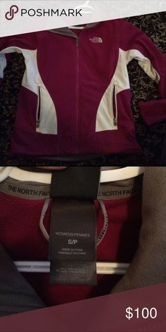 North face fleece jacket North face fuschia women's small fleece jacket. Great condition.   Only worn a few times North Face Jackets & Coats Utility Jackets