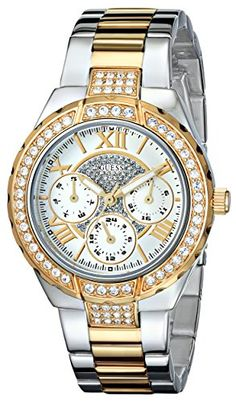 "GUESS Women's U0111L5 ""Sparkling Hi-Energy"" Silver- And Gold-Tone Watch GUESS http://www.amazon.com/dp/B00AWXSPB6/ref=cm_sw_r_pi_dp_8RgPvb0QG42D4"