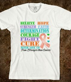 Endometrial Cancer Hope Believe Collage Shirts by cancerapparelgifts.com