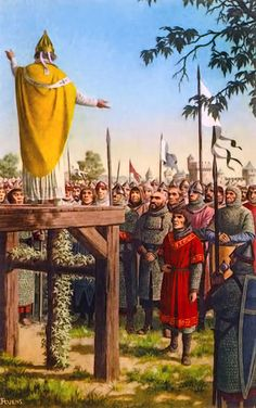 """""""The First Crusade was preached in 1095 by Pope Urbanus II at the Council of Clermont in Auvergne"""", Jean-Leon Huens"""