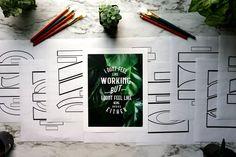Lettering Composition Templates by Haleema Nur on @creativemarket