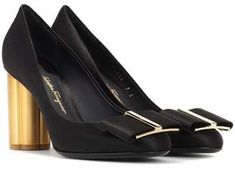 Legendary Italian brand Salvatore Ferragamo updates its flower-heel lineup with this charming pair, crafted from black-hued satin. Satin Pumps, Pink Heels, Signature Style, Shoe Collection, Salvatore Ferragamo, Editorial Fashion, Mens Fashion, Fashion Fall, Fashion Accessories