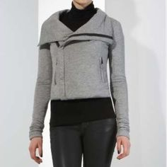 BCBGMAXAZRIA Grey Asymmetrical Moto Zipper Jacket BCBGMAXAZRIA Grey Asymmetrical Zipper Jacket. Super Soft Jersey Knit Outer Construction---Lightly Padded & Fully Lined. Asymmetric Front Zipper Closure. Side Pockets. Size: Small. ***In Excellent Pre-Owned Condition. Similar Style to brands Like: Free People, H&M, Zara, Alexander Wang, Helmut Lang, Black Crane, Isabel Marant, TopShop, For Love & Lemons, One Teaspoon, Black Crane, Cheap Monday, Madewell, Brandy Melville, A.P.C & Acne…