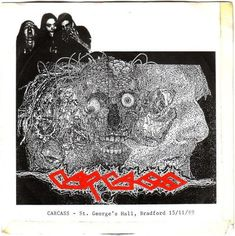 """#MONOGRAFIA: #CARCASS ((St. George's Hall, Bradford 15/11/89, EP))  Piccola, esigua testimonianza live del primo, glorioso periodo dei Carcass. Un gruppo all'epoca in via di totale affermazione, non troppo lontano da quella fama, gloria ed importanza che presto sarebbero sopraggiunte, a suon di dischi memorabili. """"St. George's Hall, Bradford 15/11/89"""", EP live, ci dona i Nostri senza fronzoli od accorgimenti, mostrandoceli come veri e propri animali da palcoscenico"""
