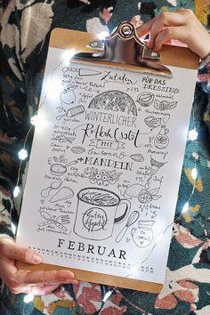 "Rezept-Doodle-Kalender-Freebie 2018 - von ""Fee ist mein Name"""