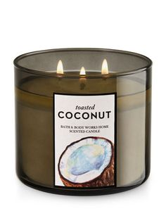 Toasted Coconut 3-Wick Candle - Bath And Body Works