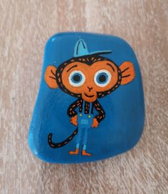 Mr. Monkey [Created: February 19, 2021]   The main cartoon character from one of my kids's favourite YouTube TV programme Mr. Monkey, Monkey Mechanic Monkey Monkey, February 19, Rock Painting, Cartoon Characters, Painted Rocks, Tv, Youtube, Collection, Stone Painting