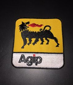 AGIP -  MOTOR SPORTS - CLASSIC MOTORS - EMBROIDERY IRON ON PATCHES