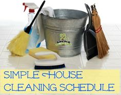 simple cleaning schedule.... or just get Sweeps to help clean your home! http://www.sweeps.jobs