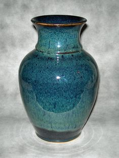 Love this glaze!!! Midnight Peacock Traditional Vase by Promethean Pottery