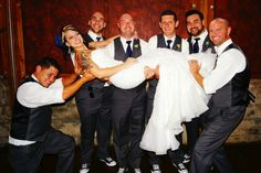 Bride and Groomsmen at The Cotton Mill.