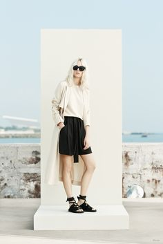 Semi-wall with outdoor background -- Mango Spring/Summer 2015 Collection
