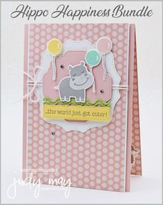 Baby Cards, Kids Cards, Stampin Up Catalog, Kids Birthday Cards, Animal Cards, Stamping Up, Creative Cards, Homemade Cards, Stampin Up Cards