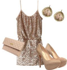 A Sequins dress is always a good idea on NYE!
