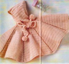 Pelerine de crochê com capuz - Receita e gráfico   Tricô + Crochê