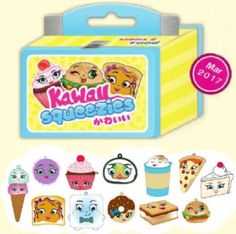 Slow Rise Squishy Emzo/'s Kawaii Squeezies Series 2 Food--Case of 20 Blind Boxes