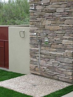 pool and outdoor shower a MUST Outdoor Pool Shower, Outdoor Dog, Outdoor Living, Pole Barn House Plans, Pole Barn Homes, Outdoor Bathrooms, Outdoor Sinks, Dog Washing Station, Outside Dogs