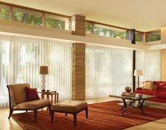Modern vertical blinds are a great way to add excitement and proportion to your sliding glass doors or large windows. Description from kemplerdesign.com. I searched for this on bing.com/images