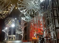Spheres and Trees   Church Stage Design Ideas