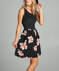 Ready to bloom and oh-so fresh, this perennial pick boasts a feminine floral print and flirty short length. Size S: 37'' long from high point of shoulder to hem95% polyester / 5% spandexMachine wash; tumble dryMade in the USA
