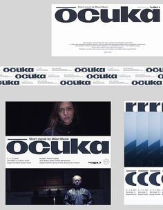 Deep Throat – Graphic design for the film Ócuka (Milan Mazúr) Type Design, Layout Design, Graphic Design, Packaging Design, Branding Design, Design System, Posters, Poster Prints, Editorial Layout