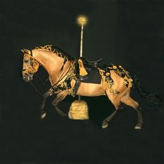 The Guilded Prince Carousel Horse