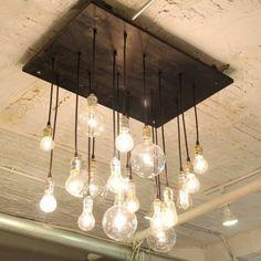 diy lampen aus glühbirnen hängeleuchten installation                                                                                                                                                                                 Mehr