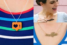 Instagram Necklaces: #selfie, #nofilter and Like - Show your Instagram love in the IRLiverse! ($25)