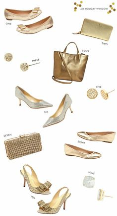 golden holiday accessories