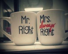 His and Her Mugs by TheBluegrassStore on Etsy