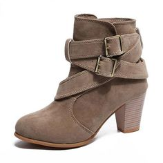 Ankle Boots For Women. Discover the latest styles in women's boots and ankle boo… Ankle Boots For Women. Discover the latest styles in women's boots and ankle booties, including flat and heeled, faux suede and vegan leather, and much more! Cute High Heels, Chunky High Heels, Short Boots, Belts For Women, Western Boots, Ankle Boots, Women's Boots, Heeled Boots, Fashion Boots