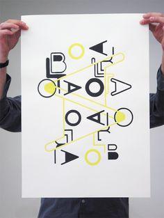 Image of BLOTA TYPE POSTER DIN A2