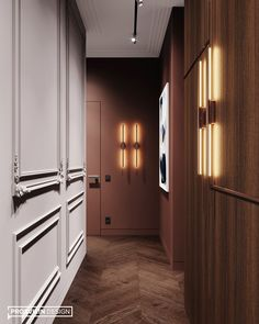 The corridor on the second floor from the project We decided to make it . Door Design, Exterior Design, Interior And Exterior, Home Room Design, Living Room Designs, House Design, Scandal, Entry Lighting, Loft Kitchen