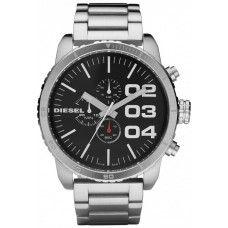 038e2893ea06 Diesel Double Down 51 Silver Analog Quartz Men s Watch