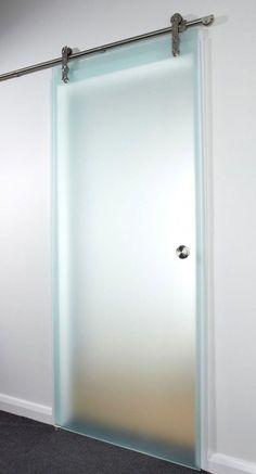 Glass Sliding Door Design Modern Ideas For 2019 Glass Barn Doors, Sliding Glass Door, Sliding Doors, Wooden Doors, Sliding Door Design, Bathroom Doors, Bathroom Ideas, Interior Barn Doors, Entry Doors