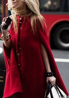 Fall 2013 Trend: Red - Totally cape-able!
