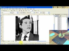 Sketching using the Wacom Bamboo Tablet in CorelDraw