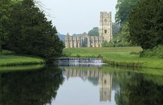 Fountains Abbey & Studley Royal Water Garden North Yorkshire, UK