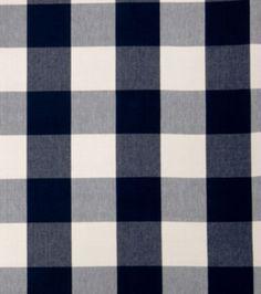 Home Decor Print Fabric-Eaton Square Siamese-Navy Checks